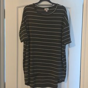 LLR Ribbed Stretchy Irma Top, Small